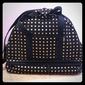 Kate Spade Saturday Weekender Gold Polka Dot Bag